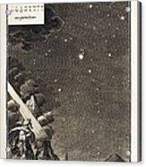 1731 Johann Scheuchzer Star Magnitudes Acrylic Print