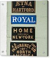 1825 Insurance Agency Acrylic Print