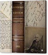 1860 Adam Sedgwick Review Of Darwin Acrylic Print