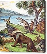 1888 Megalosaurus, Dryptosaurus Dinosaurs Acrylic Print