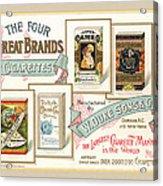 1889 W. Duke Sons Co Cigarettes Trading Card Acrylic Print