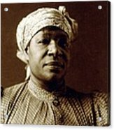 1897 Portrait Of An African American Acrylic Print by Everett
