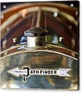 1913 Pathfinder 5-passenger Touring Hood Ornament Acrylic Print