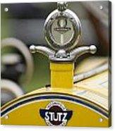 1914 Stutz Series E Bearcat Hood Ornament Acrylic Print
