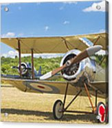 1916 Sopwith Pup Biplane On Airfield Canvas Photo Poster Print Acrylic Print