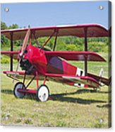 1917 Fokker Dr.1 Triplane Red Barron Canvas Photo Print Poster Acrylic Print