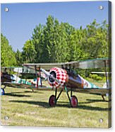 1917 Nieuport 28c.1 World War One Antique Fighter Biplane Canvas Poster Print Acrylic Print