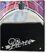 1919 Pierce-arrow Model 48 Dual Valve Roadster Grille Emblem Acrylic Print