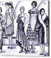 1920s British Fashions Acrylic Print