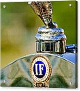 1924 Isotta-fraschini Tipo 8 Torpedo Phaeton Hood Ornament Acrylic Print