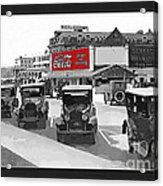 1924 Vintage Automobiles Parked At Atlantic City Acrylic Print