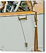 1925 Rolls-royce Phantom I Barker Sports Torpedo Tourer Steering Wheel Acrylic Print