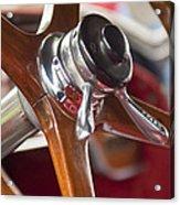 1925 Stutz 695 Speedway Sportster Steering Wheel Acrylic Print