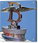 1927 Bentley 6.5 Liter Sports Tourer Hood Ornament Acrylic Print