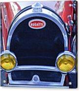 1927 Bugatti Replica Grille Headlights Acrylic Print
