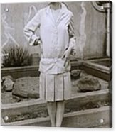 1927 Suit With A Mid-knee Pleated Skirt Acrylic Print