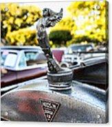 1928 Hudson Super Six Roadster Hood Ornament Acrylic Print