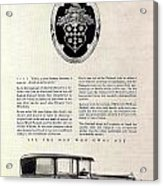 1928 Packard Acrylic Print