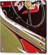 1929 Graham-paige Model 837 Lebaron Sport Phaeton Steering Wheel Acrylic Print