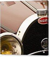 1931 Bugatti Type 55 Roadster Grille Emblem Acrylic Print