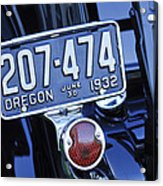 1932 Ford Model 18 Roadster Hotrod Taillight Acrylic Print