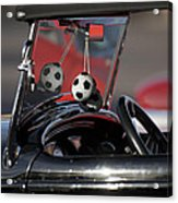 1932 Ford Roadster Fuzzy Dice Acrylic Print