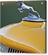 1933 Dodge Ram Hood Ornament Acrylic Print