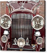 1934 Bentley 3.5-litre Drophead Coupe Grille Acrylic Print