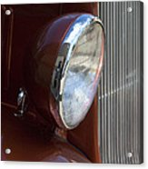 1934 Ford Headlight And Grill Acrylic Print