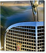 1937 Cadillac Hood Ornament And Grille Acrylic Print
