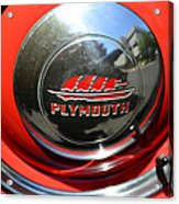 1937 Plymouth Hubcap Acrylic Print