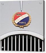 1937 Talbot-lago Emblem Acrylic Print