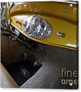 1938 Ford Roadster Dashboard Acrylic Print