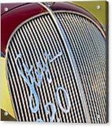 1938 Steyr 220 Glaser Roadster Grille Emblem Acrylic Print
