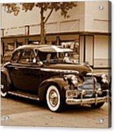 1940 Chevrolet Special Deluxe - Sepia Acrylic Print