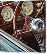 1940 Chevrolet Steering Wheel Acrylic Print