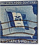 1946 Iowa Statehood Stamp Acrylic Print