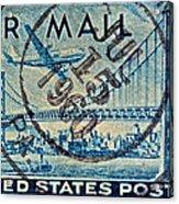 1946 Oakland Bay Bridge Air Mail Stamp Acrylic Print