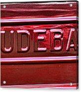 1947 Studebaker Tail Gate Cherry Red Acrylic Print