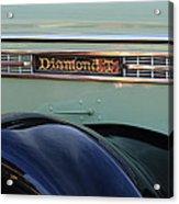 1948 Diamond T Truck Emblem 2 Acrylic Print