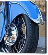 1948 Indian Chief Motorcycle Wheel Acrylic Print