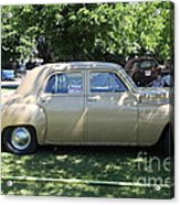 1949 Plymouth Delux Sedan . 5d16208 Acrylic Print by Wingsdomain Art and Photography