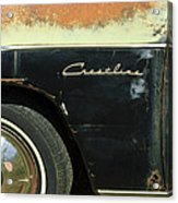 1950 Ford Crestliner Wheel Emblem Acrylic Print