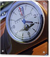 1950 Oldsmobile 88 Dashboard Clock Acrylic Print