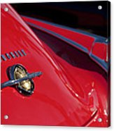 1950 Oldsmobile Rocket 88 Rear Emblem And Taillight Acrylic Print