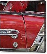 1950s Chevrolet Belair Chevy Antique Vintage Car 3 Acrylic Print