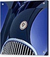 1951 Jaguar Proteus C-type Grille Emblem 4 Acrylic Print by Jill Reger
