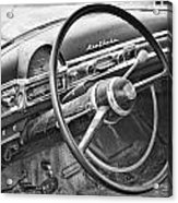 1951 Nash Ambassador Interior Bw Acrylic Print