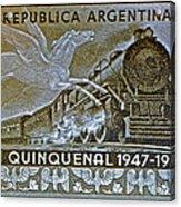 1951 Republica Argentina Stamp Acrylic Print