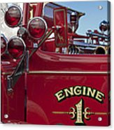 1952 L Model Mack Pumper Fire Truck 2 Acrylic Print